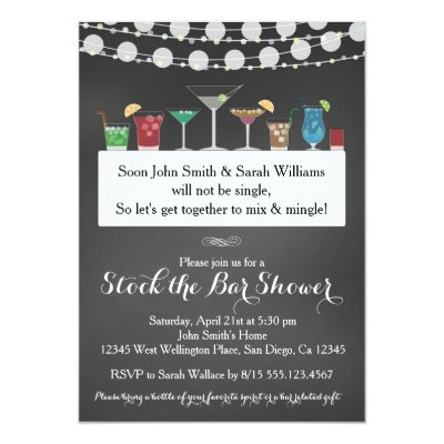 stock the bar couples wedding shower invitation | zazzle, Wedding invitations