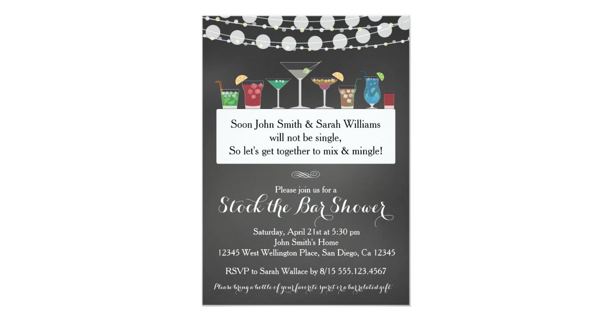 Stock the Bar Couples Wedding Shower Invitation | Zazzle.com