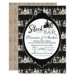 Stock the Bar Couple's Wedding Shower Invitation