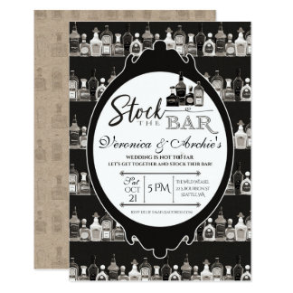 Stock the Bar Couple's Wedding Shower Invitation
