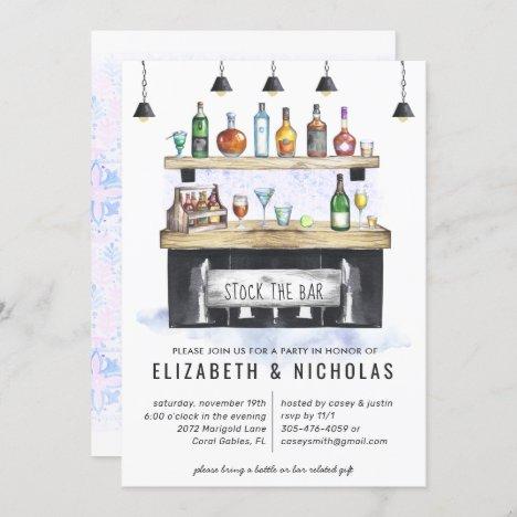 Stock the Bar | Couples Wedding Shower Invitation