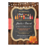 Stock The Bar Fall Pumpkin Engagement Invitation