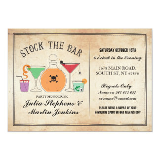 Stock The Bar Gothic Party Engagement Invitation