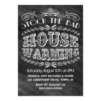 Stock The Bar House Warming Party 5x7 Paper Invitation Card