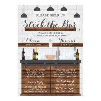 Stock the Bar Housewarming Party, Farmhouse Style Invitation