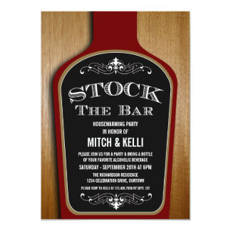 Stock the Bar Housewarming Party Invitations