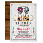 Stock The Bar invitation Halloween sugar skulls