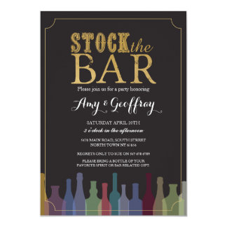 Stock The Bar Party Engagement Bottles Invite