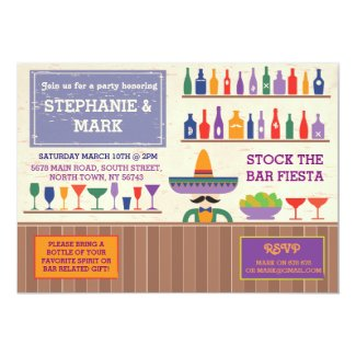 Stock The Bar Party Fiesta Mexican Tequila Invite
