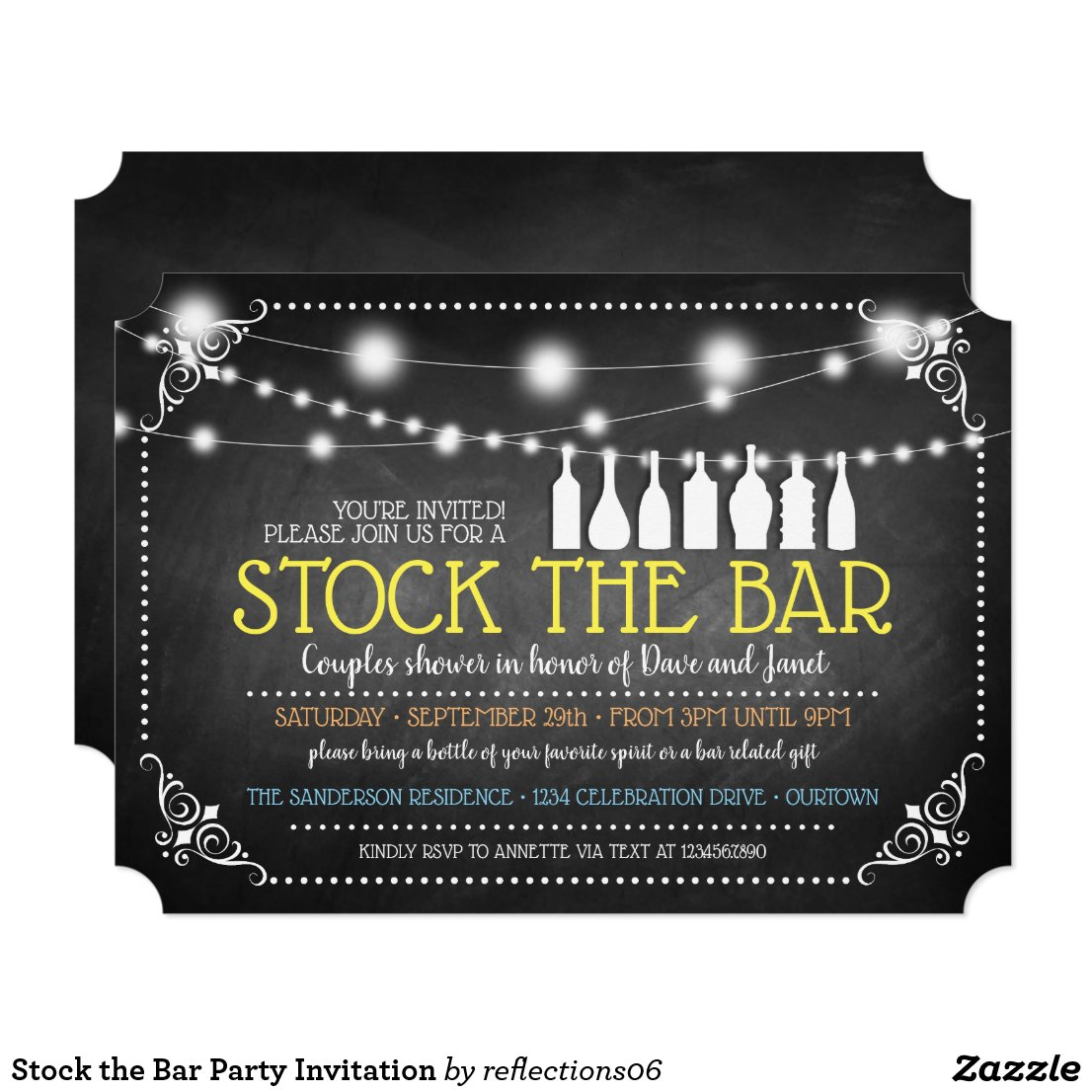 Stock the Bar Party Invitation