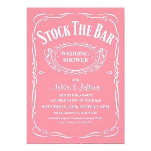 "Stock the Bar Party Invitations 5"" X 7"" Invitation Card | Zazzle"