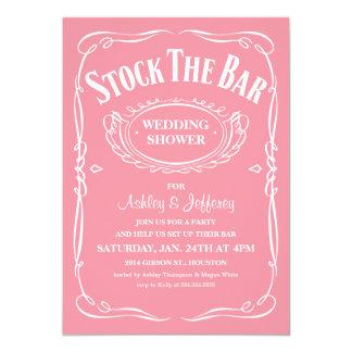 "Stock the Bar Party Invitations 5"" X 7"" Invitation Card"