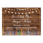 Stock The Bar Rustic Couple's Shower Invitation