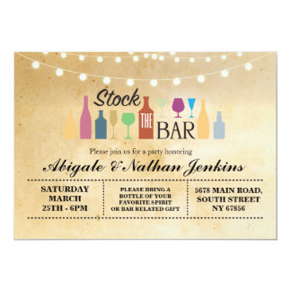 Stock The Bar Rustic Engagement Shower Invitation