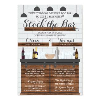 Stock The Bar Shower Farmhouse Style Card