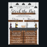 "Stock the Bar Shower, Farmhouse Style Invitation<br><div class=""desc"">Invite guests to your Stock the Bar party with this farmhouse-style invitation!</div>"