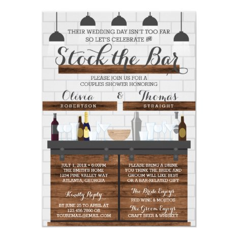Stock the Bar Shower, Farmhouse Style Invitation