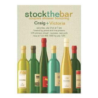 Stock the Bar Shower Invitation Invites