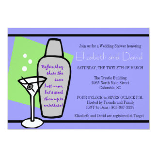 Stock the bar shower 5x7 paper invitation card