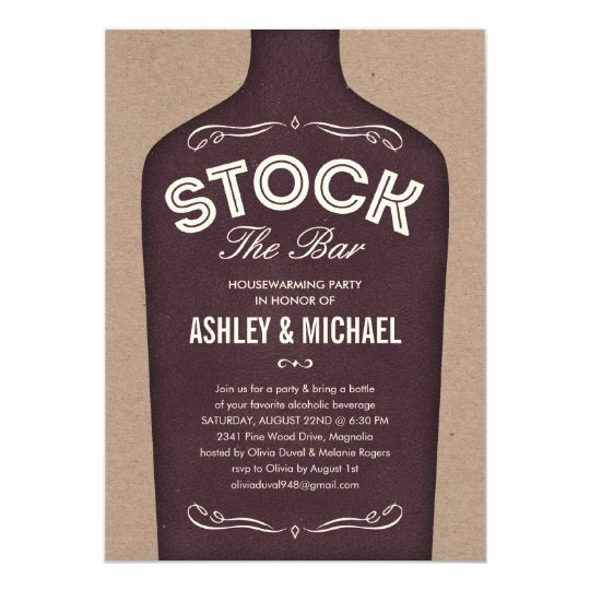 Stock the Bar Shower Invitations