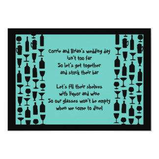 Stock the Bar Silhouette Shower 5x7 Paper Invitation Card