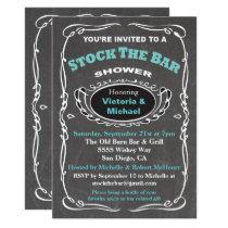 Stock the bar wedding shower invitation
