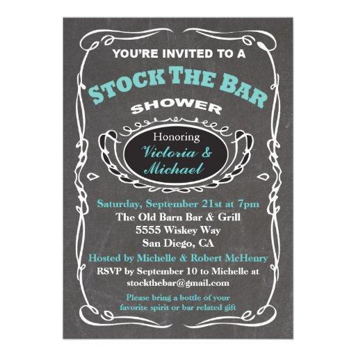 stock the bar wedding shower invitation 5quot x 7quot invitation With stock the bar wedding shower invitations