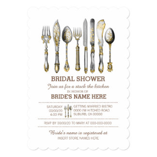 Stock the kitchen | Bridal Shower Card