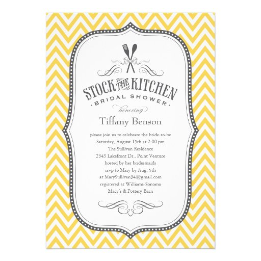 Stock The Kitchen Bridal Shower Invitations 5 X 7 Invitation Card Zazzle