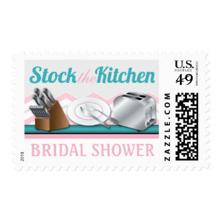 Stock the Kitchen Bridal Shower Postage Stamps