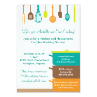 Stock the Kitchen Bridal Wedding Couples Shower Card