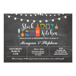 Stock The Kitchen Engagement Party Couples Shower Card ...