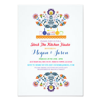 Stock The Kitchen Fiesta Couple's Party Invitation