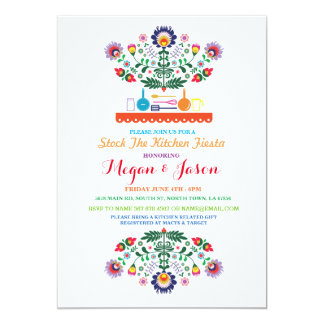 Stock The Kitchen Fiesta Mexican Party Invitation