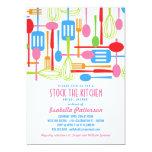 Stock the Kitchen Retro Style Bridal Shower 5x7 Paper Invitation Card