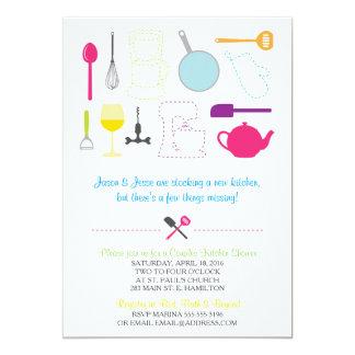 Stock the kitchen shower invitation