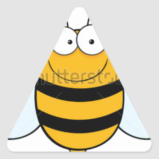 stock-vector-bee-mascot-cartoon-character-74626567 triangle sticker