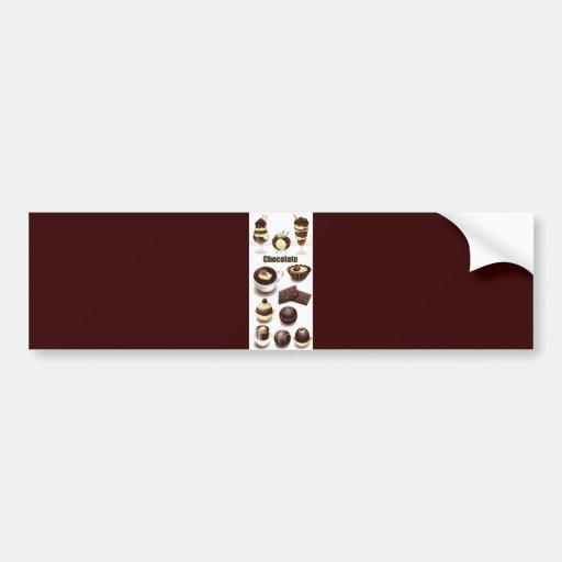 Stock Vectors - Chocolate Car Bumper Sticker