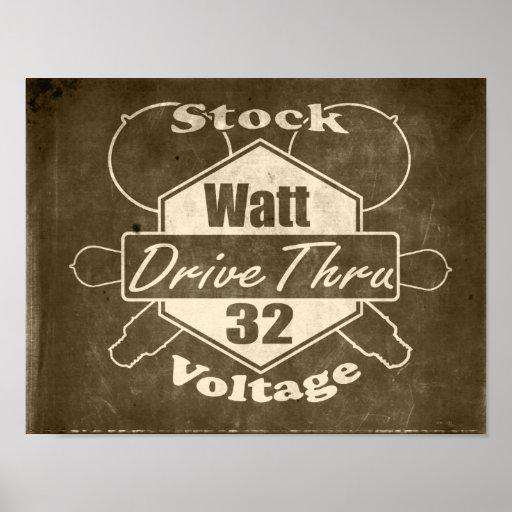 Stock Watt Drive Thru Poster
