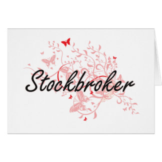 Stockbroker Artistic Job Design with Butterflies Card