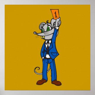 Stockbroker Mouse Poster