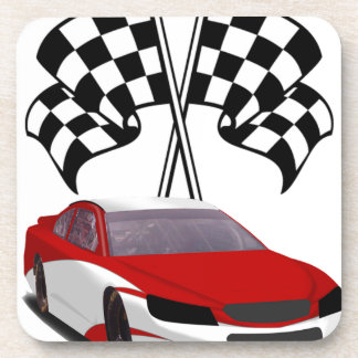 Stockcar Racing & Flags Drink Coasters