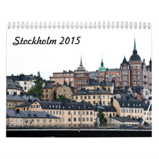Stockholm 2015 calendar