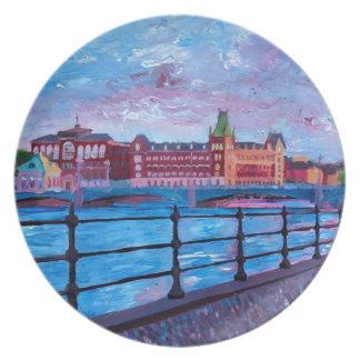 Stockholm City View - Old Town Riddarholmen Plate