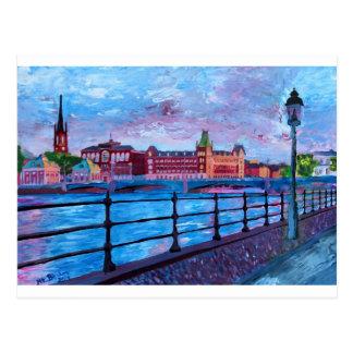 Stockholm City View - Old Town Riddarholmen Postcard