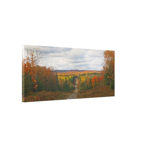 Stockholm Maine Fall Panoramic Gallery Wrap Canvas
