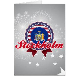 Stockholm, NY Card