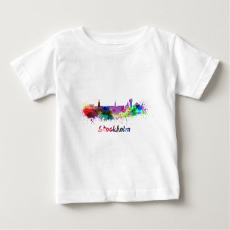 Stockholm skyline in watercolor baby T-Shirt