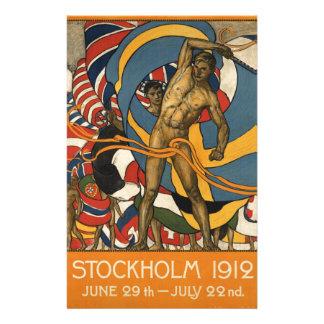 Stockholm Sports Sweden Vintage Personalized Stationery