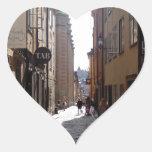 Stockholm street heart stickers
